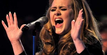 Adele singing high notes