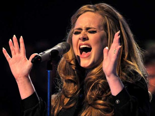 Adele singing high notes