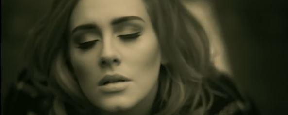Adele singing Hello